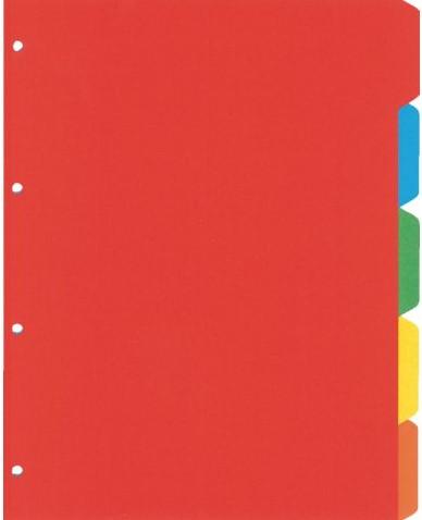 Tabbladen Kangaro 4-gaats PE405 5-delig assorti karton