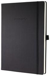 Notitieboek Conceptum CO112 187x270mm zwart lijn