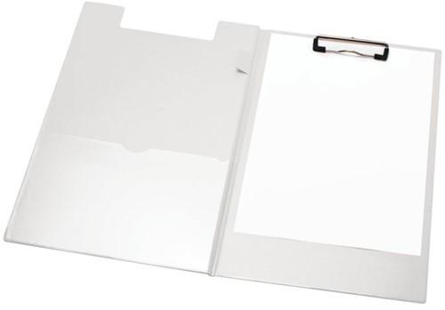 Klembordmap LPC A4/Folio met 100mm klem + penlus wit