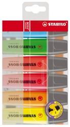 Markeerstift Stabilo Boss 70 blister à 6 stuks assorti
