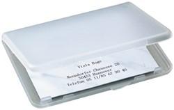 Visitekaartenhouder Sigel VA140 kunststof transparant
