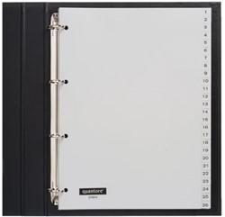 Tabbladen Quantore 4-gaats 1-52 genummerd grijs PP