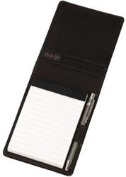 Schrijfmap van der Spek 216 A7 Buffelleer met pen zwart