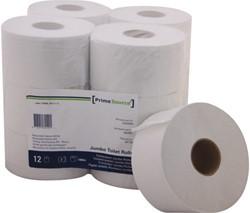 Toiletpapier PrimeSource Mini 2laags 180m wit 12rollen