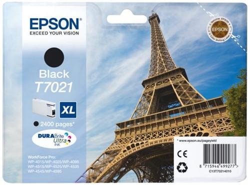 Inktcartridge Epson T7021 zwart HC