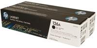 Tonercartridge HP CE310AD 126A zwart 2x-2