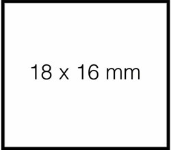 Prijsetiket 18x16mm Sato Duo 16 permanent wit