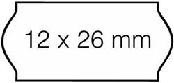 Prijsetiket 12x26mm Sato Samark afneembaar wit