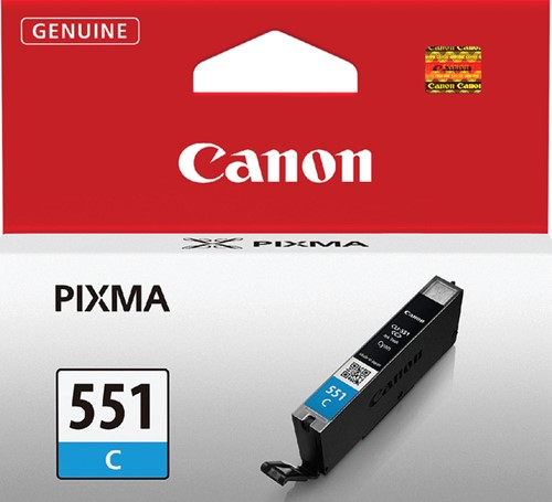 Inktcartridge Canon CLI-551 blauw