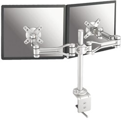 "monitorarm Newstar D1030D 2x10-24"" met klem zilvergrijs"