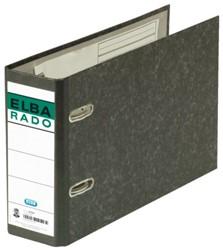 Ordner Elba Rado A5 dwars 75mm karton zwart gewolkt