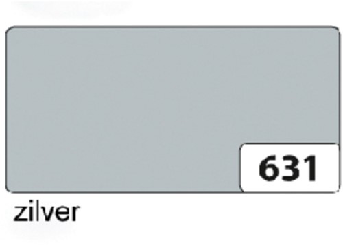 Etalagekarton folia 48x68cm 380gr nr631 zilver