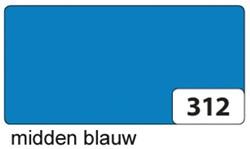Etalagekarton folia 48x68cm 400gr nr312 middenblauw