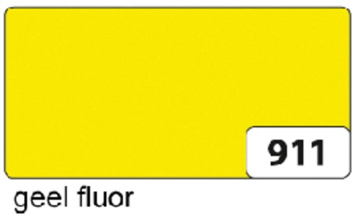 Etalagekarton folia 48x68cm 380gr nr911 fluor geel