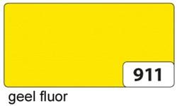 Etalagekarton folia 48x68cm 400gr nr911 fluor geel