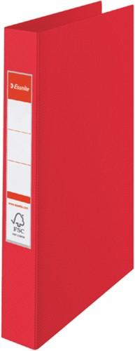 Ringband Esselte Vivida A4 4-rings O-mech 25mm PP rood
