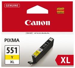 Inkcartridge Canon CLI-551XL geel HC