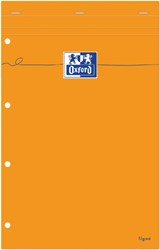 Schrijfblok Oxford Everyday A4+ lijn geel papier