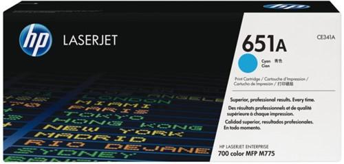 Tonercartridge HP CE341A 651A blauw