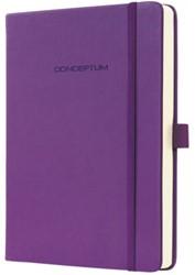 Notitieboek Conceptum CO571 135x203mm paars lijn