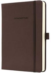 Notitieboek Conceptum CO574 95x150mm bruin lijn