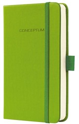 Notitieboek Conceptum CO579 95x150mm groen lijn