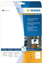 Etiket Herma 9501 210x297mm A4 polyester wit 50stuks