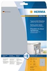 Etiket Herma 4216 105x148mm zilver 100stuks