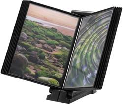 Infomanager Flex-O-Frame basis met 10-tassen antraciet/zwart