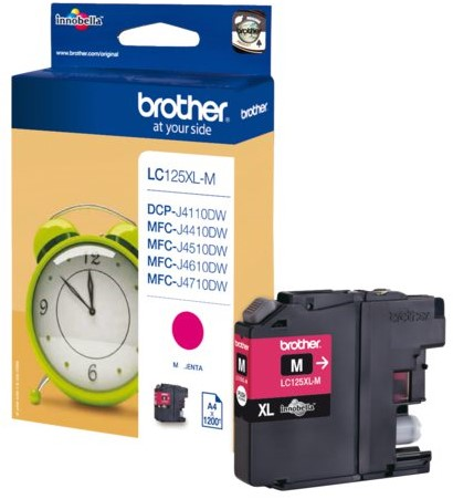 Inktcartridge Brother LC-125XLM rood HC