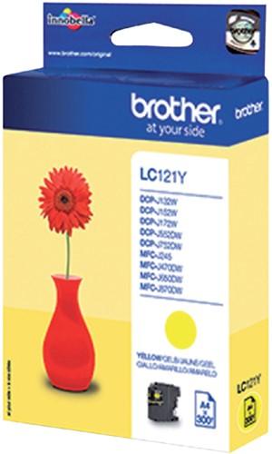 Inktcartridge Brother LC-121Y geel