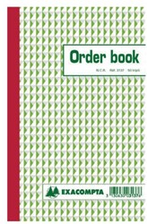 Orderboek Exacompta 210x135mm 50x3vel lijn
