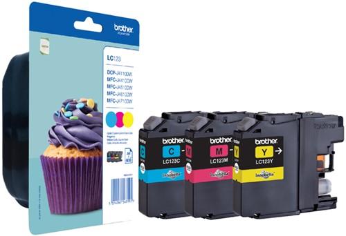 Inktcartridge Brother LC-123RBWBP 3 kleuren