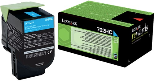 Tonercartridge Lexmark 70C2HC0 prebate blauw HC