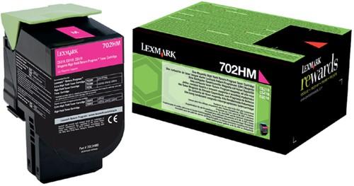 Tonercartridge Lexmark 70C2HM0 prebate rood HC