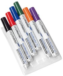 Viltstift Legamaster TZ1 whiteboard rond assorti 1.5-3mm 6st