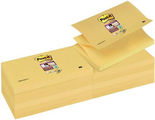 Memoblok 3M Post-it Z-Note S350 Super Sticky 76x127mm geel