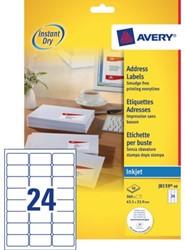 Etiket Avery J8159-40 63.5x33.9mm wit 960stuks