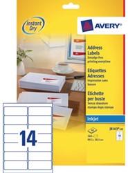 Etiket Avery J8163-40 99.1x38.1mm wit 560stuks