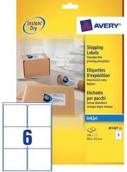 Etiket Avery J8166-25 99.1x93.1mm wit 150stuks
