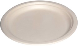 Bord biologisch afbreekbaar karton 220mm wit 500 stuks