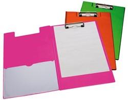 Klemmap LPC A4/Folio met 100mm klem + penlus neon groen