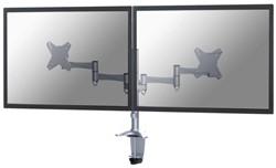 "monitorarm Newstar D1330D 2x10-27"" met klem zilvergrijs"