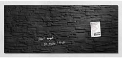 Glasbord Sigel magnetisch 1300x550x15mm leisteen