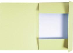 Dossiermap Exacompta forever 300gr 3kleppen geel