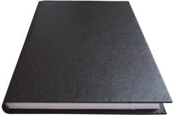 Schrift met harde kaft A5 400blz gelinieerd zwart