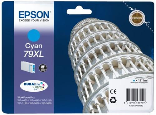 Inktcartridge Epson 79XL T7902 blauw HC