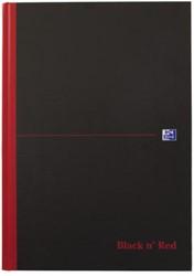 Notitieboek Oxford Black n' Red A4 96vel gelinieerd ass.
