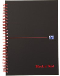 Notitieboek Oxford Black n' Red A5 karton 70v gelinieerd ass