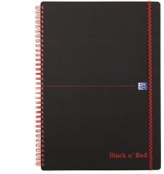 Notitieboek Oxford Black n' Red A4 PP 70vel gelinieerd ass.
